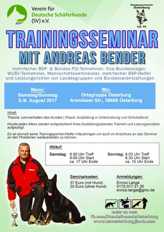 Seminarflyer Bender in Osterburg